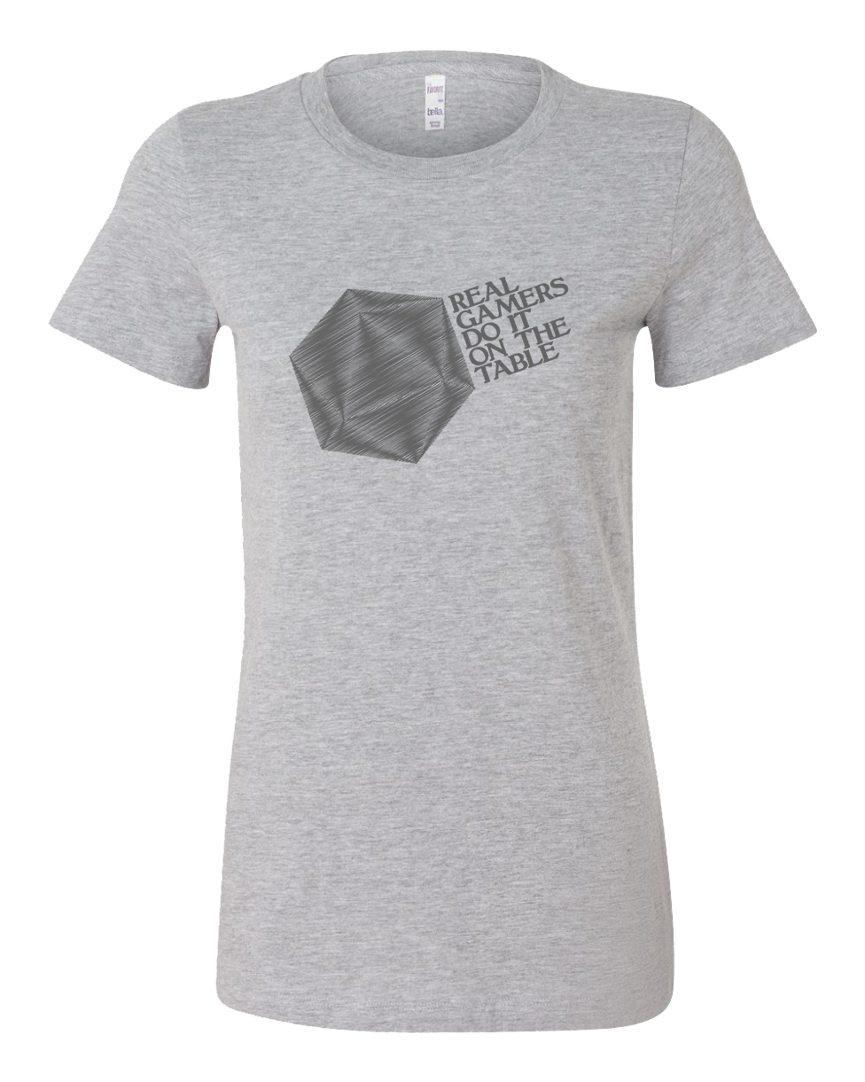 Real Gamers Do It On The Table Geek Vintage T Shirt