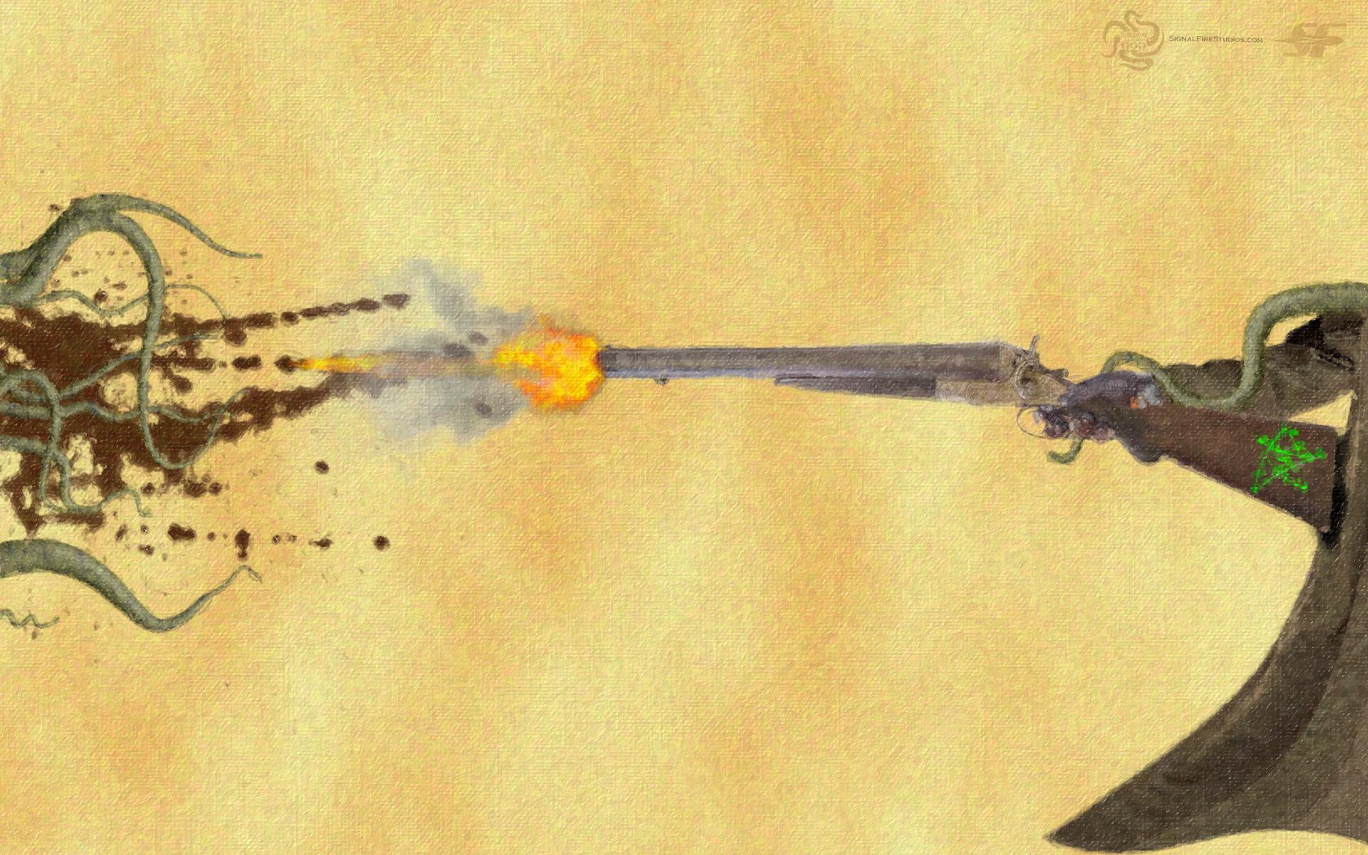 Tentacle Shotgun Wallpaper – Free Download – Signal Fire Studios LLC